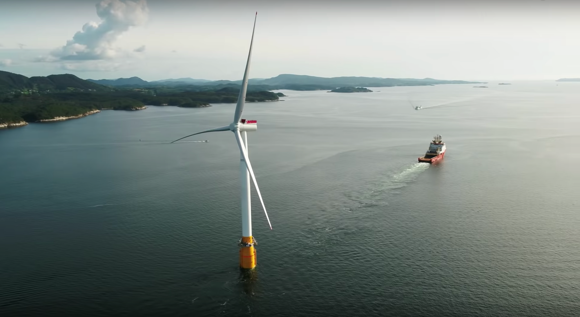 Spectacular images, video tell the story of the world's first offshore wind farm